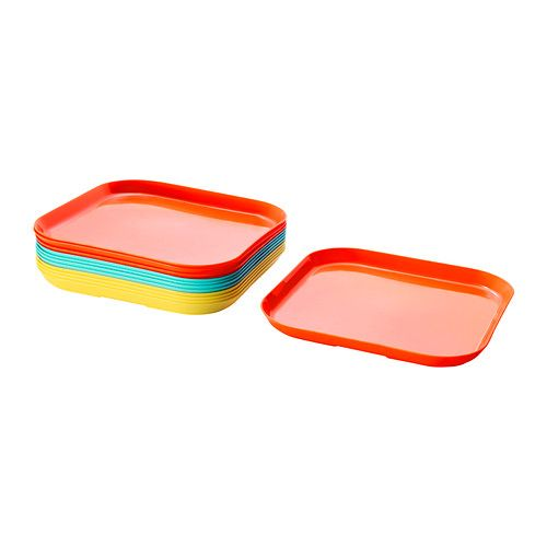 SOMMARFINT Plate - IKEA Snack trays for each child?  They rinse off and put in drying rack?