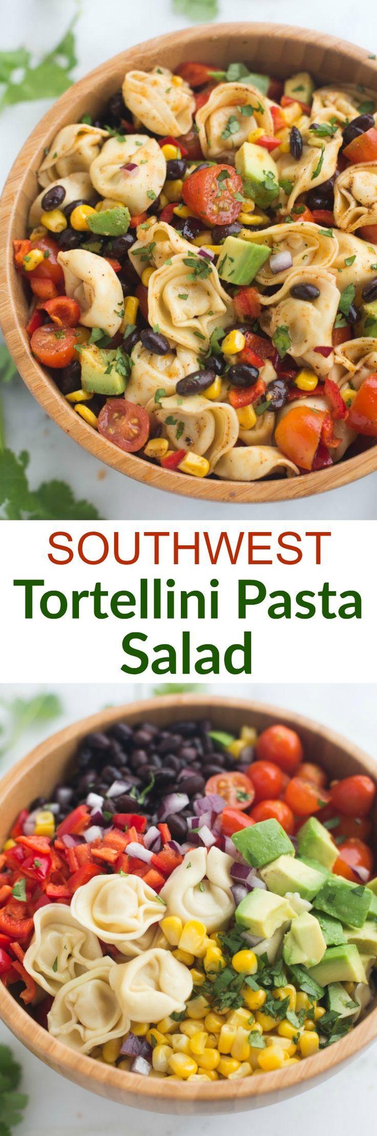 Southwest Tortellini Pasta Salad - Tastes Better From Scratch
