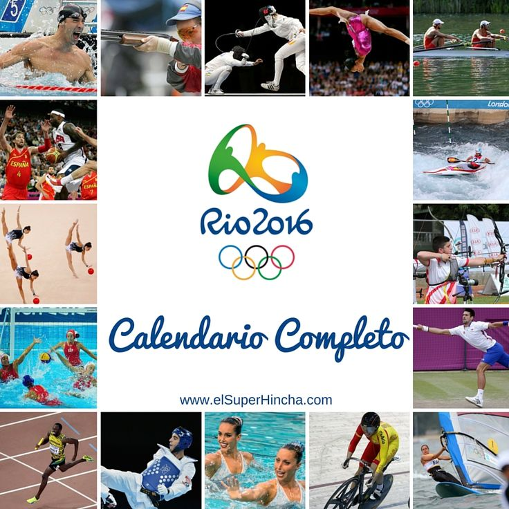 Aquí tienes el #Calendario completo de #Río2016. Podrás consultarlo por días o por deportes, como prefieras. También indica los días con participación española. http://elsuperhincha.com/calendario-juegos-olimpicos-rio-2016/  -----------------------------  #JuegosOlimpicos #RumboaRio #RoadToRio #RumboARio2016 #RoadToRio2016 #TeamEsp #RioRTVE