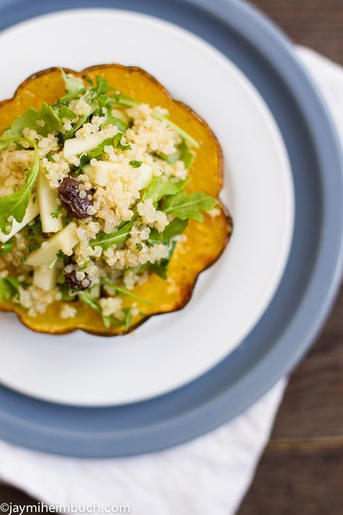 Roasted Acorn Squash with Quinoa and Mint Salad | Smooth ...