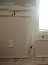 Wainscoting - Dimensions
