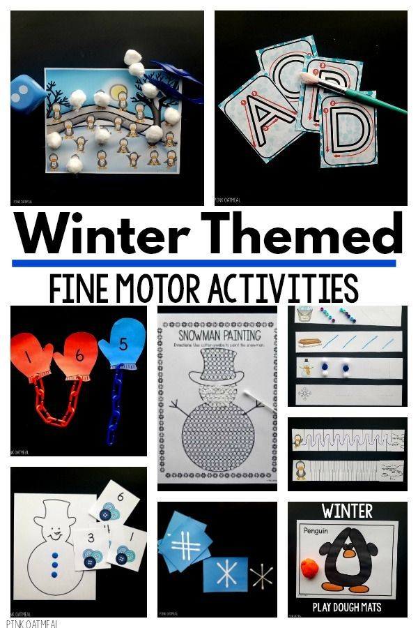Winter Fine Motor Activities Pediatric Physical Therapy Ideas