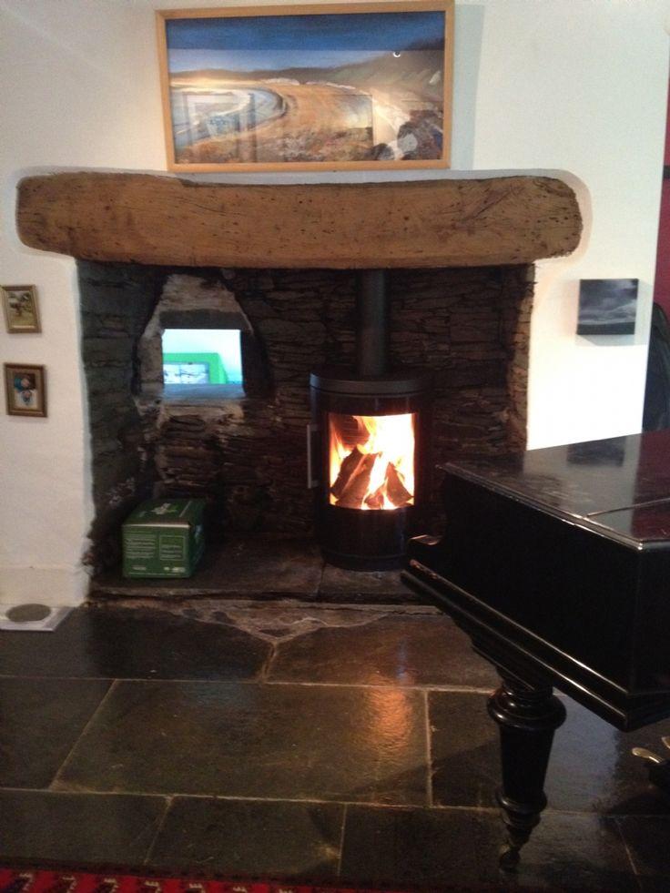 Hwam 3610 Installation #KernowFires #Hwam #fireplace #woodburner #stove #cornwall #installation #freestanding #contemporary