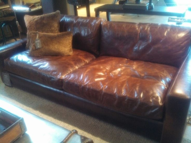 Deep Leather Couch Super Comfy Sit Here Or There