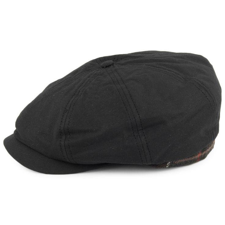 Barbour Hats Guillemot Wax Newsboy Cap - Black