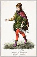 Bourgondisch middeleeuwse kleding.  Italiaanse Renaissance kostuum nobel Florentine