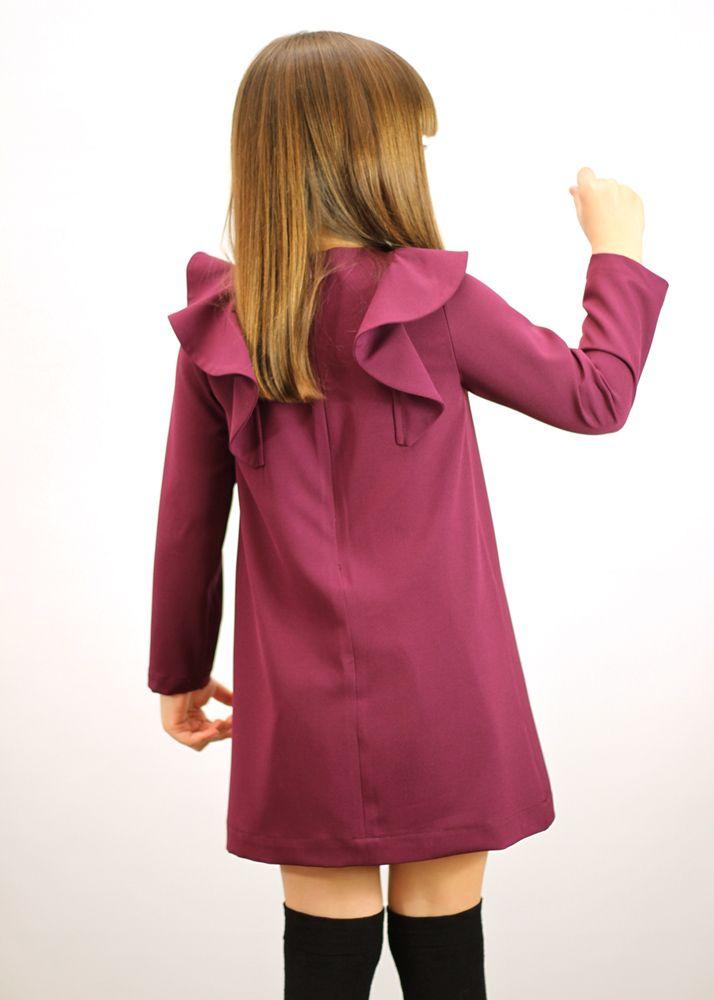 Manuela dress in purple #MOTORETA AW14 #lookbook #kids