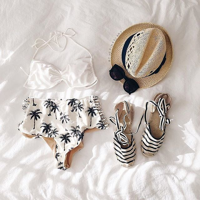 A cream and black color palette for vacation.