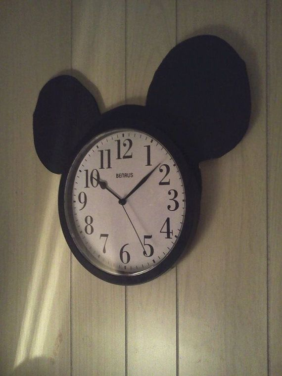 Mickey Mouse Childrens Clock for bedroom nursery or by CanCreate, $42.98