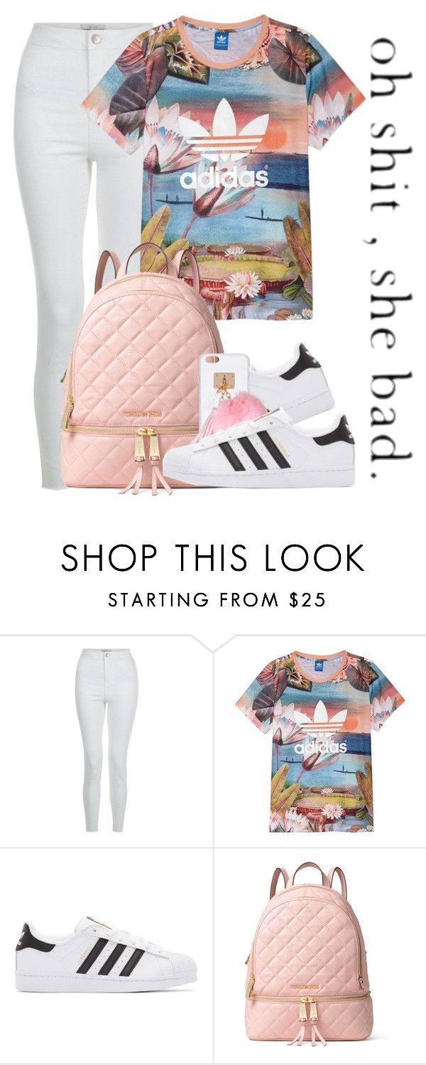 """""""Dope Swag 2016"""" by bxby-girl-rielle ❤ liked on Polyvore featuring New Look, adidas, adidas Originals, MICHAEL Michael Kors and Ashlyn'd"""