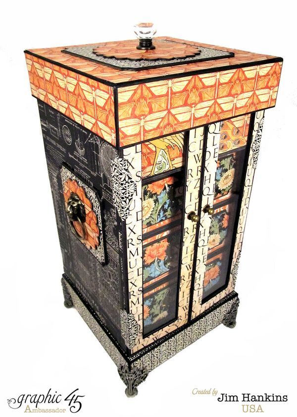 """""""Artisan Style"""" Curious Cabinet by Jim, The Gentleman Crafter for Graphic 45 (using New """"ARTISAN"""" Collection) ~ Graphic 45 Projects."""