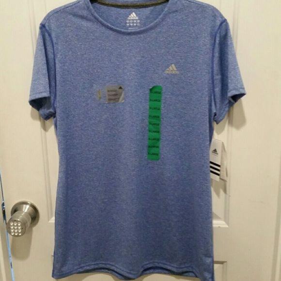 Adidas climalite blue short sleeve top Adidas climalite blue short sleeve top.  Quick dry Adidas Tops Tees - Short Sleeve