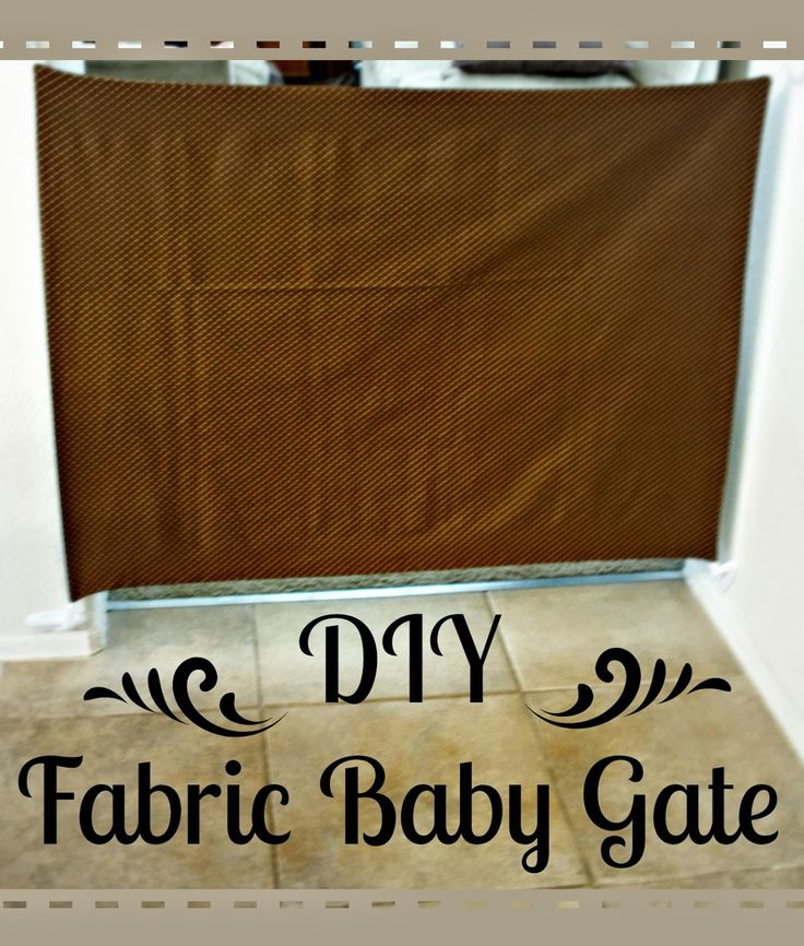 DIY Fabric Baby Gate Tutorial with step by step picture directions.  Easy to follow!
