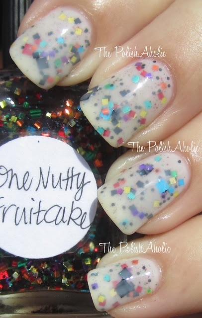 Lynderella One Nutty Fruitcake with OPI Don't Touch my Tutu: Indie Nails, Nails Art, Dollish Polish, Polish Nails, Indie Editing, Nails Polish, Nutti Fruitcak, Art Nails, Sunday Spam