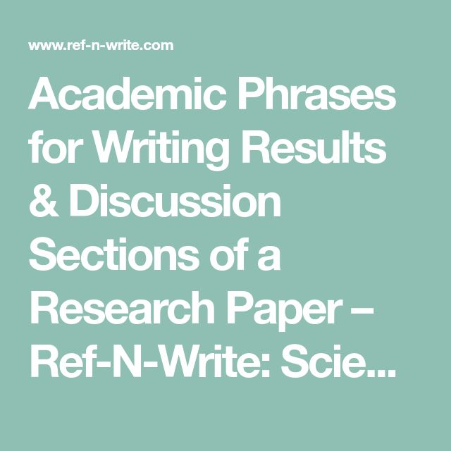 discussion section of a research paper The section connects you to a number of sources that can help you to come to an understanding of what is required to discuss the results of your research and how to write it.