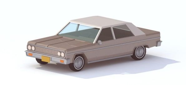 12 Awesomely Isometric Illustrations Of Classic '70s Cars