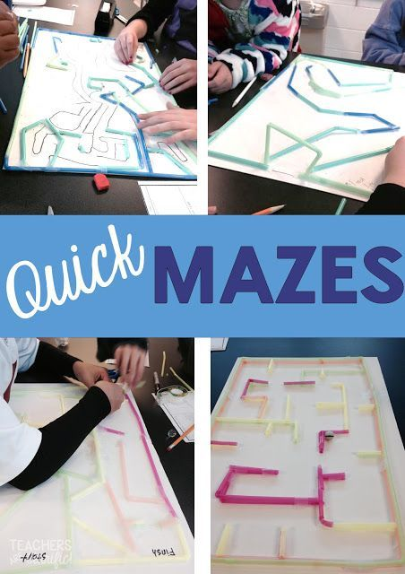 STEM Engineering Challenge: This is a quick challenge with a minimum of materials and directions. Kids designs their maze and make the paths with straws!