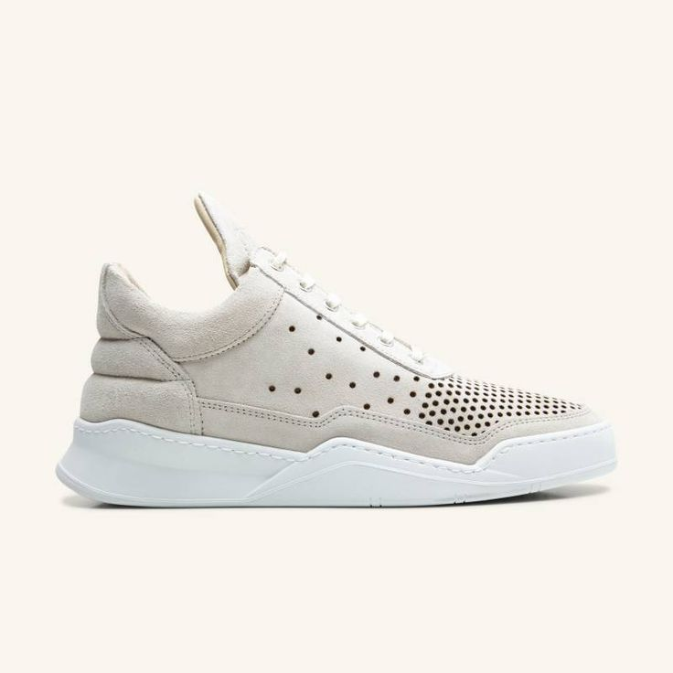 Filling Pieces - Low Top - gradient perforated beige