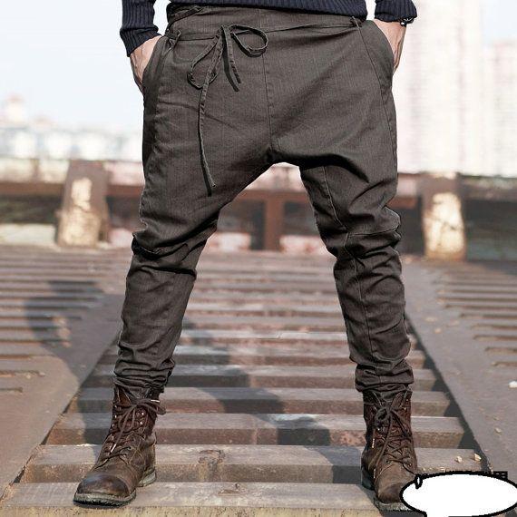 2014  England men's casual pants harem pants by LittleLilbienen, $55.00. So lush.