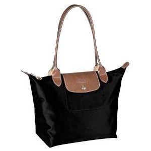 Black Le Pliage Medium Bag Longchamps
