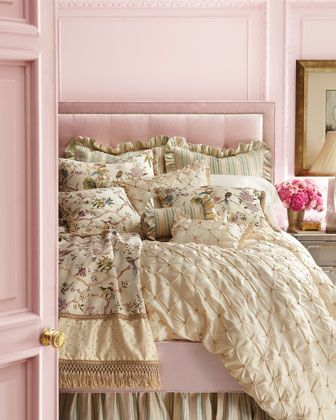 """Georgia"" Bed Linens by Jane Wilner Designs at Neiman Marcus."