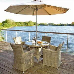 Bramblecrest Sahara 4 Seat Armchair Rattan Garden Furniture Set