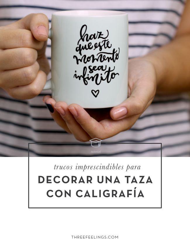 Trucos imprescindibles para decorar una taza con caligrafía