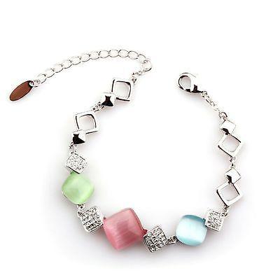 ELEGANT JADE BRACELET MADE WITH SWAROVSKI ELEMENTS with free silk pouch in Jewellery & Watches, Fashion Jewellery, Bracelets   eBay