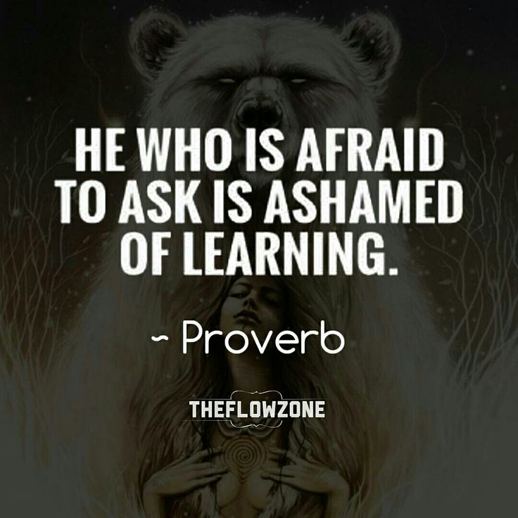 African Inspiration Quotes: He Who Is Afraid To Ask Is Ashamed Of LEARNING