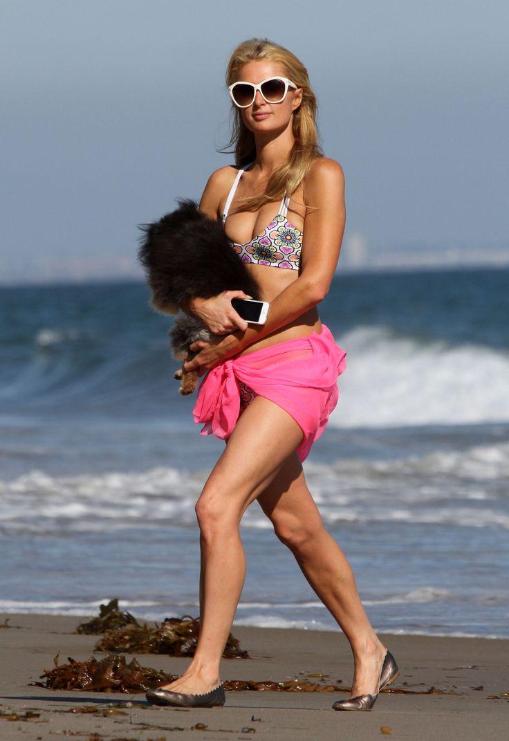 Paris Hilton   Bikini Candids on the Beach in Malibu  07/15/14