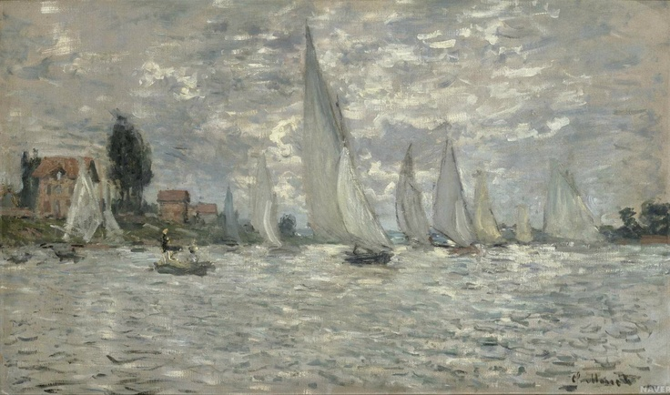 <작은 배들, 아르장퇴유의 보트경주 (les Barques.Régates à Argenteuil)>-클로드 모네(Claude-Oscar Monet)