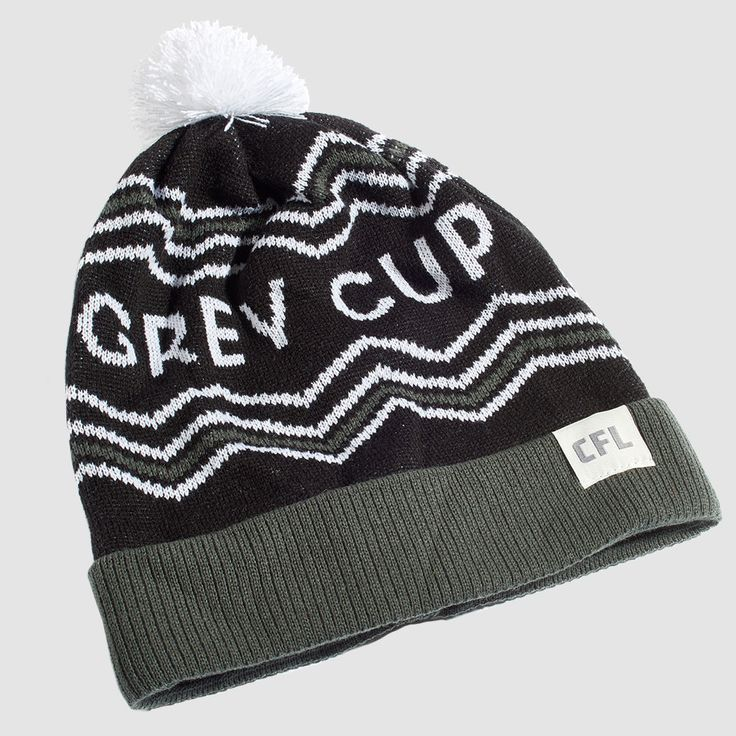 """CFL Grey Cup Black Toque. It's survived an attempted heist & ransom, a three-alarm fire blaze, and over 100 victory celebrations (we can only imagine how wild those were). To say that the words """"Grey Cup"""" are iconic would be an understatement. Rep your country's (and one of North America's) oldest sport trophy with these toques this season.  Proudly Made in Canada."""