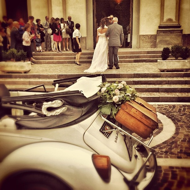 Wedding in Italy VW Beetle Convertible