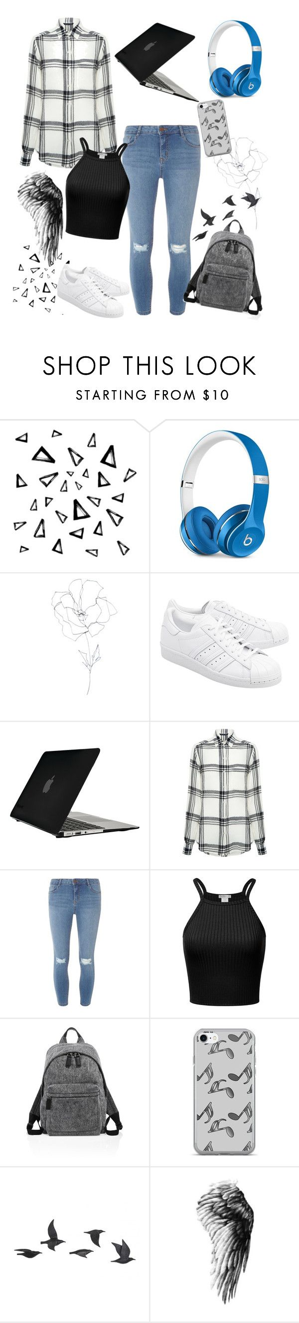 """""""Untitled #393"""" by blushygal ❤ liked on Polyvore featuring Nika, Beats by Dr. Dre, Blume, adidas Originals, Speck, Marissa Webb, Dorothy Perkins, Marc Jacobs, Music Notes and Jayson Home"""