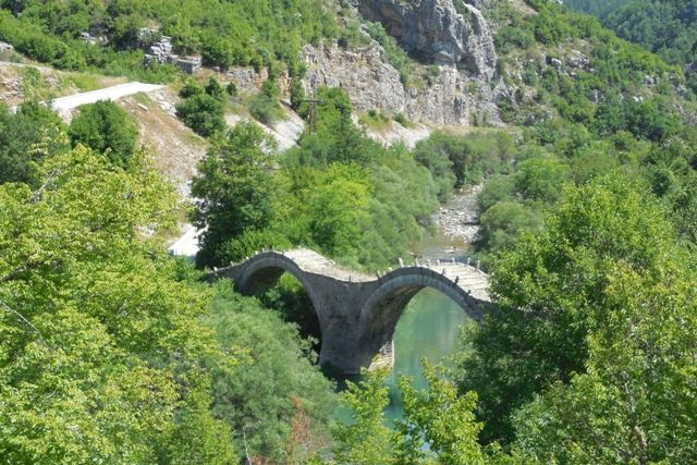 Kalogeriko (or Plakidas') stone bridge built in 1814