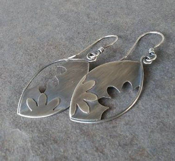 Hand-crafted pewter pendants-floral necklace-OOAK