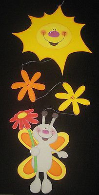 "Fensterbild / Fensterkette aus Tonkarton ""Schmetterling""   Frühling"