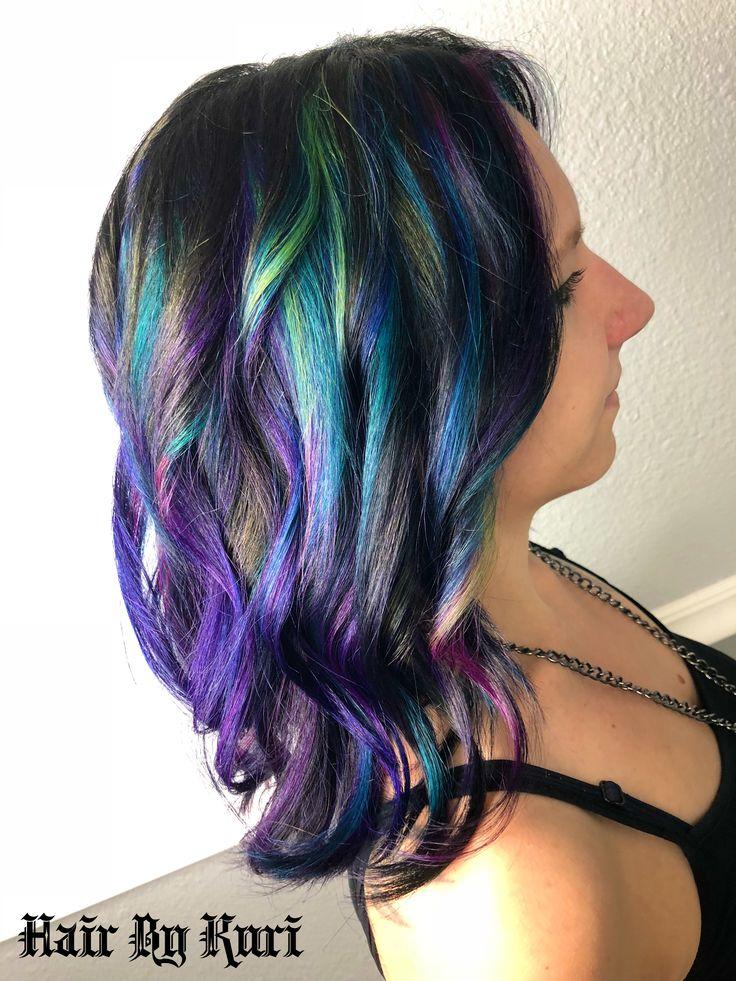 oilSlick #hairbykuri #hairskillzover9000 #oilslickhair #neonhair #pulpriot #haircuts #hair #hairstyles #neon #pink #purple #velvet #jam #nightfall #hairstylist #seminole #florida #seminolestylist #727 #727stylist #pinellasstylist @cosmoprofbeauty @modernsalon @olaplex @pulpriothair @behindthechair_com