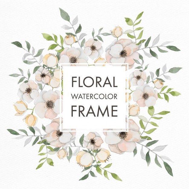 Lade Aquarell Floralen Rahmen Mit Pastellfarbenen Bluten Kostenlos
