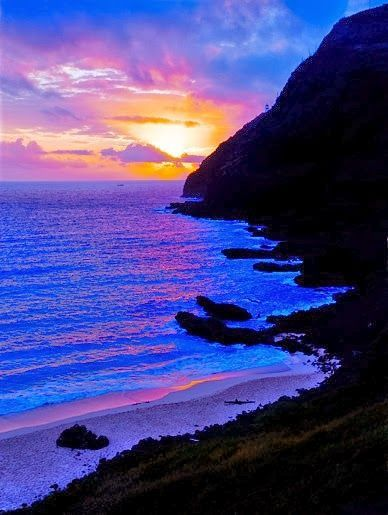Daybreak ~ North shore, Oahu, Hawaii.  It is absolutely gorgeous here