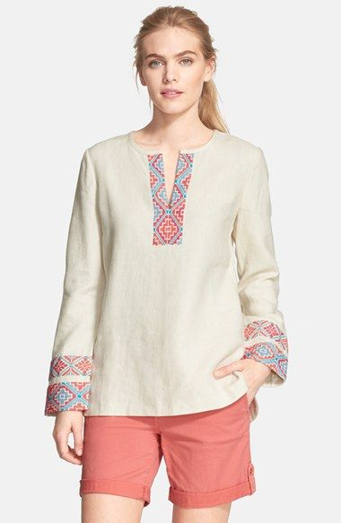 Piece+&+Co.+and+Tory+Burch+'McKenna'+Tunic+(Nordstrom+Exclusive)+available+at+#Nordstrom