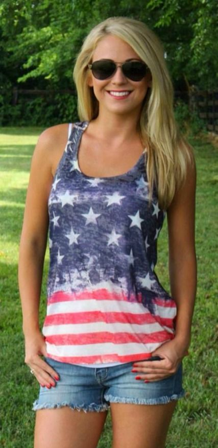 The Pink Lily Boutique - American Flag Tank, $32.00 (http://thepinklilyboutique.com/american-flag-tank/)