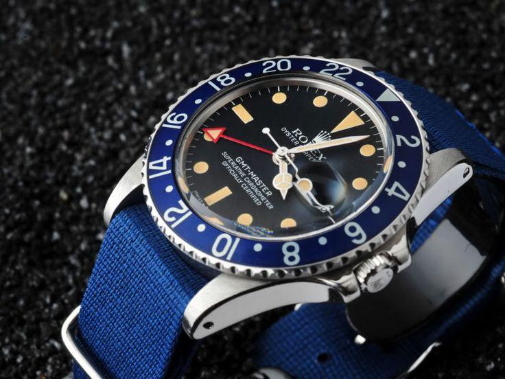 Rolex Submariner Blue Bezel Black Face