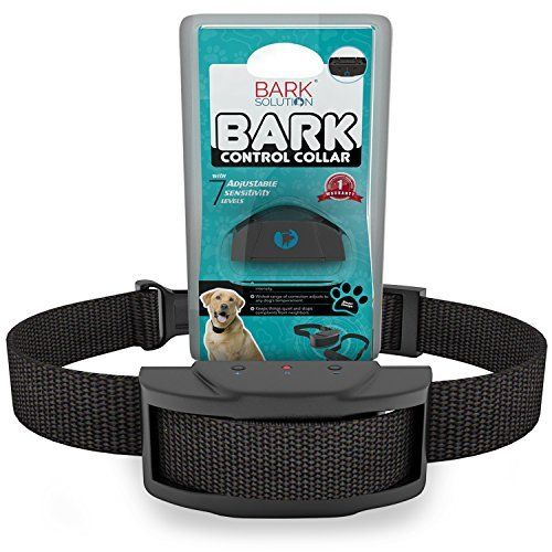 Bark Solution improved Anti Bark Dog Collar Training System, Electric No Bark Shock Control with 7 Adjustable Sensitivity Control & Manual  Bark Solution Improved Third Generation Anti-Bark Collars were enhanced in sensibility and life time. It stops barking with progressively increasing sound and shock, controlled by a microprocessor distinguishing your canine's bark from other environmental sounds; most family pets will quickly comprehend the brand-new sensation is telling them to be…