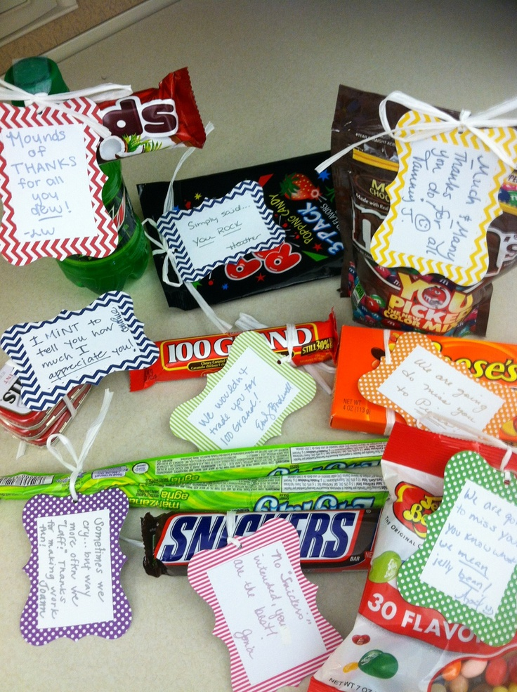 Candy sayings we gave to our boss :)