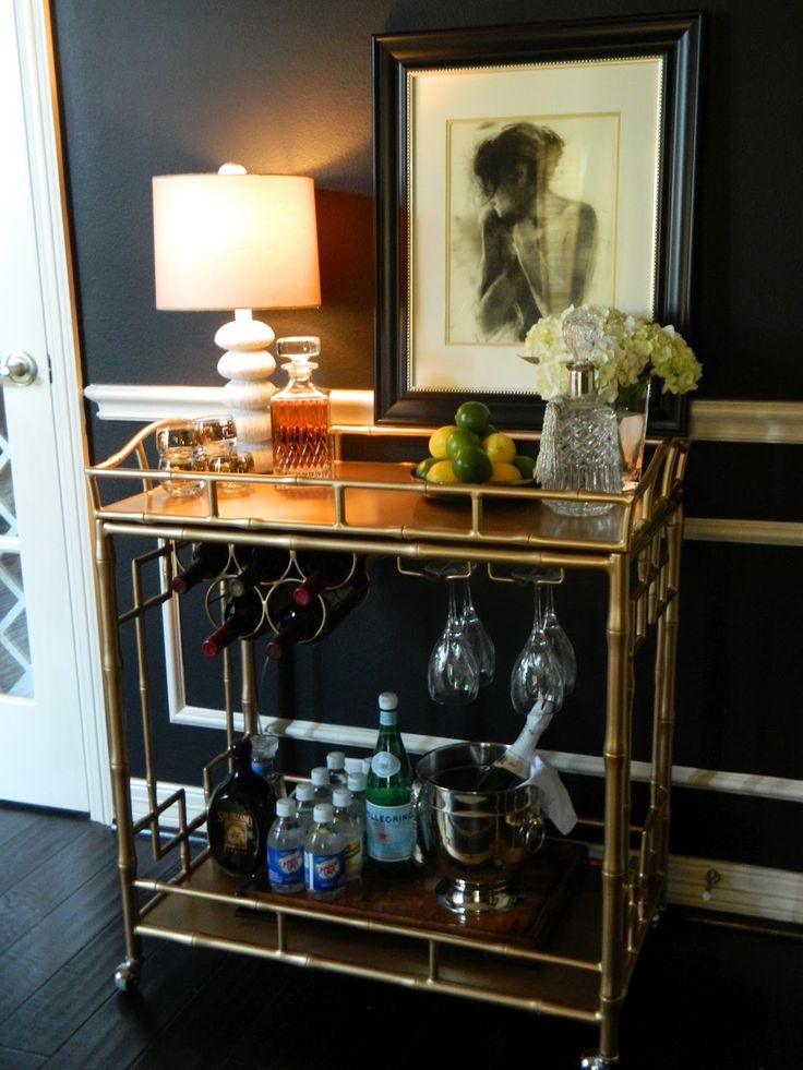 Elegant Bar Cart Styling