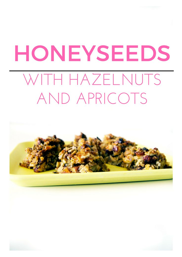 Honeyseedbite with hazelnuts and apricots