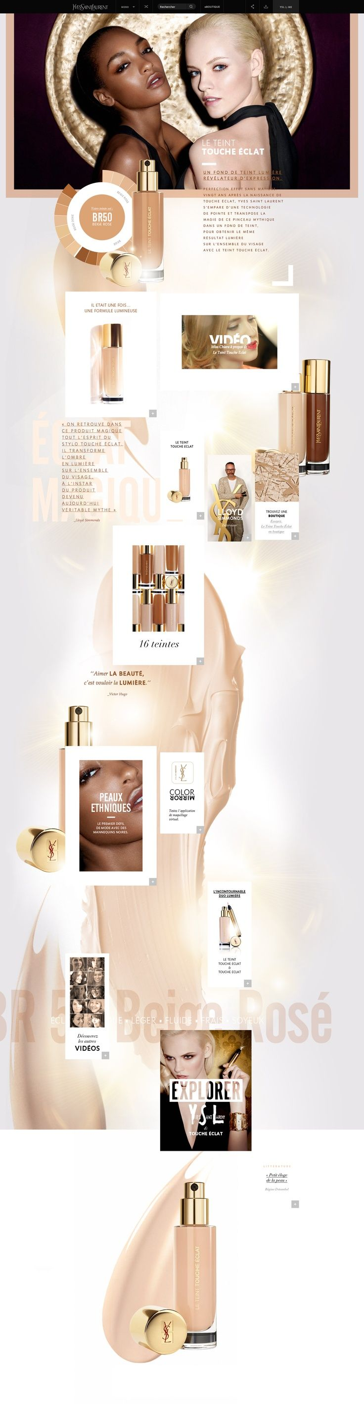 Interesting approach to fashion/cosmetic industry on the web.