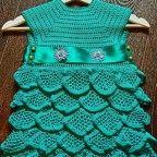 Вязаное платье крючком | Вязание для девочек | Вязание спицами и крючком. Схемы вязания.
