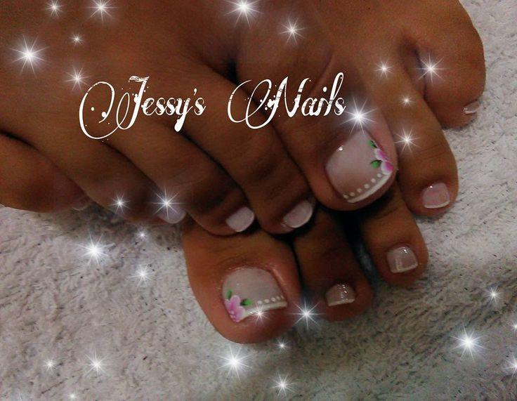uñas decoradas para pies #uñas #pies #delicadas #novias #boda
